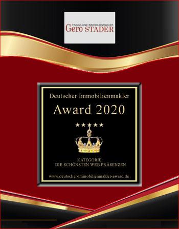IMMOBILIENMAKLER BERLIN GERO STADER IMMOBILIEN MAKLERAWARD MAKLER AWARD MAKLERAUSZEICHNUNG