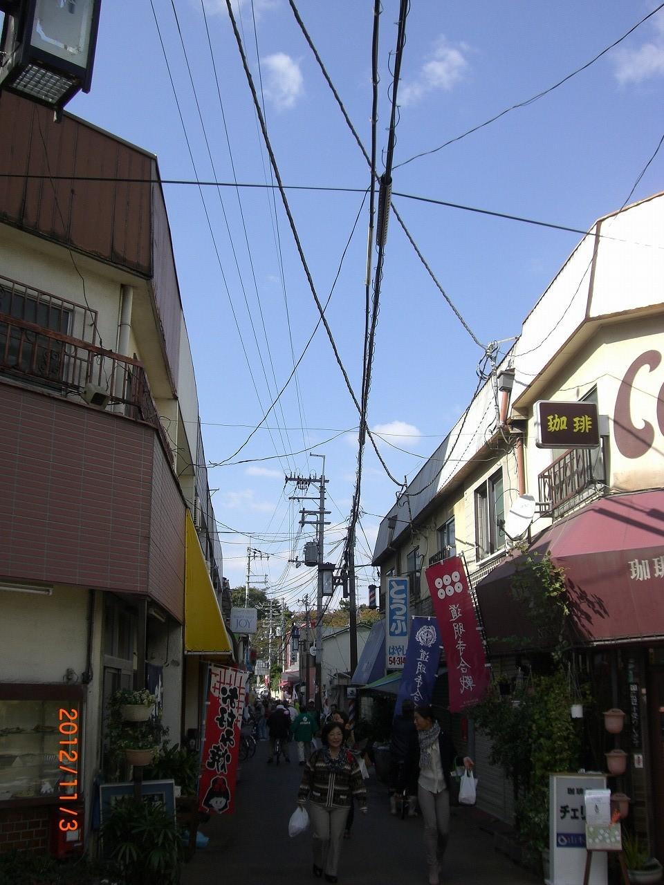 02_道明寺商店街 沢山のお店が並ぶ商店街
