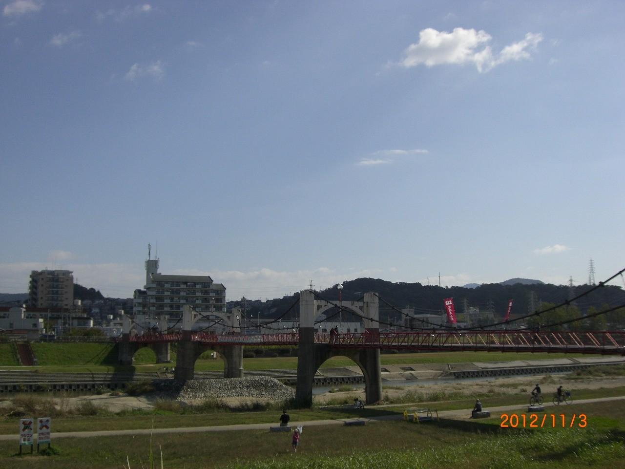 04_石川河川敷 晴れた日にはバーベキューも楽しめる