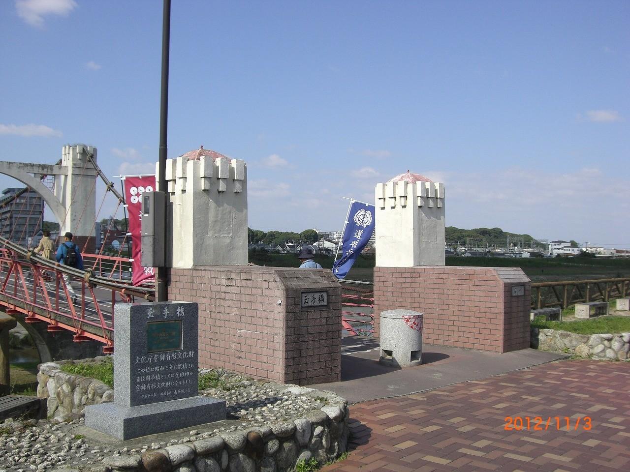04_石川河川敷 藤井寺市と柏原市を隔てる石川。両市を結ぶ赤い石川橋