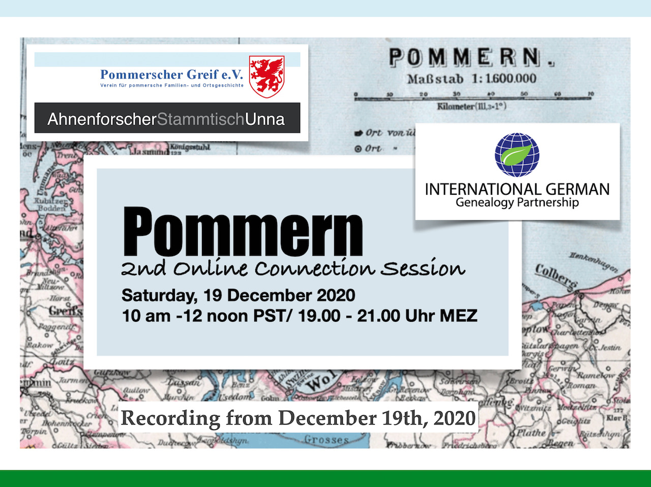 Großer internationaler Teilnehmerkreis bei der 2nd ONLINE POMMERN CONNECTION SESSION