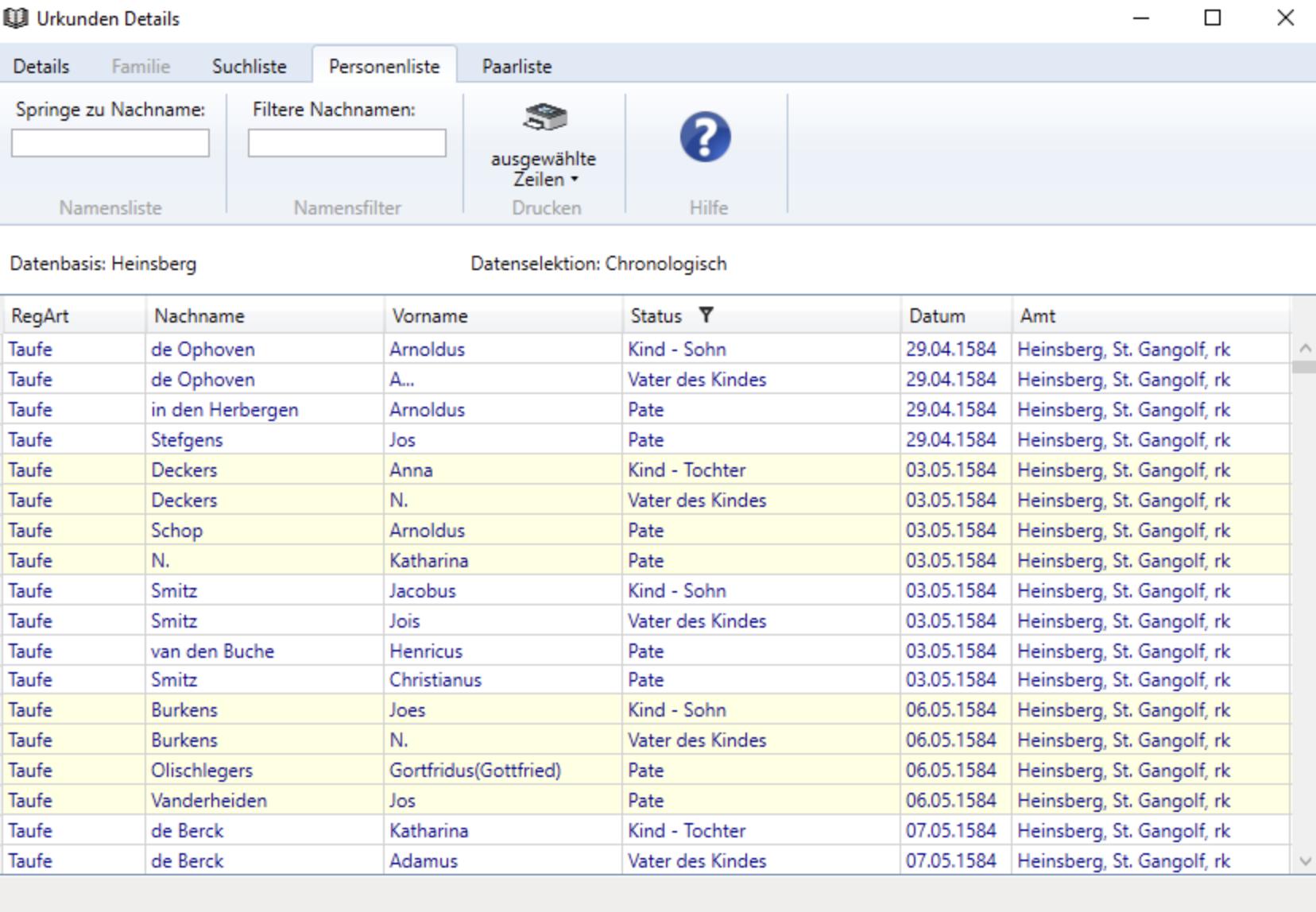 """Datenbank """"Personenstand Reader 2"""" als genealogische Forschungsquelle vorgestellt!"""