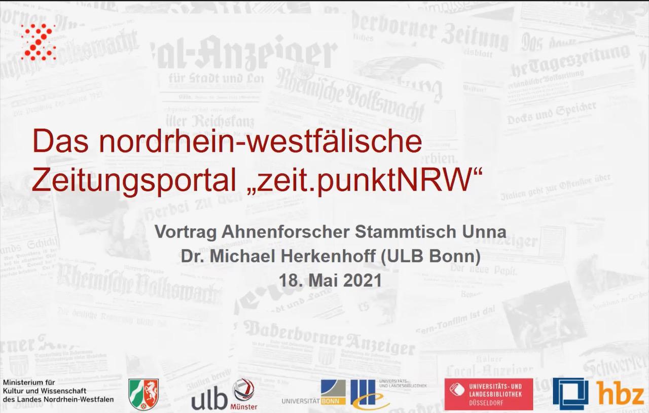 Zeitpunkt NRW zu Gast beim Ahnenforscher Stammtisch Unna