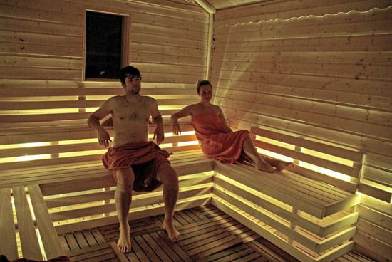 Entspannen in unserer Blockhaus-Sauna