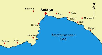 Turkische Riviera Hotel Lageplan