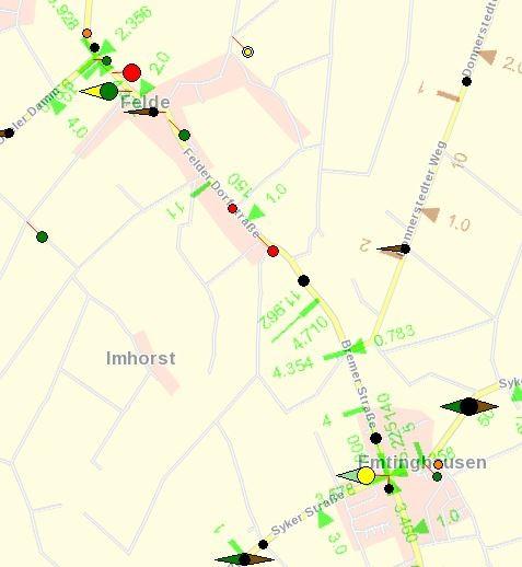 Unfallgeschehen auf der L 331 in Felde und Emtinghausen 2011