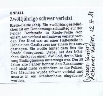 L 331 (Schwarme-Bremen): Auf der Strecke zwischen Emtinghausen und  Riede darf teilweise mit Tempo 100 gefahren werden: Tempo 100-Ortsschild- Kurve-Schulbushaltestelle - und alle Anträge auf Temporeduzierung werden vom Landkreis Verden abgelehnt.