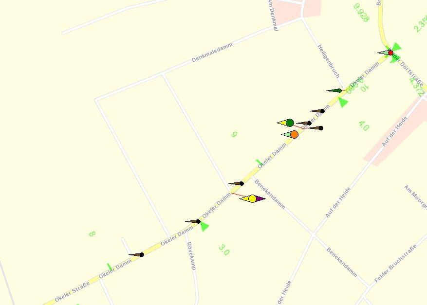 Unfallgeschehen an der L 333 zwischen Felde und Okel im Felder Teil 2012