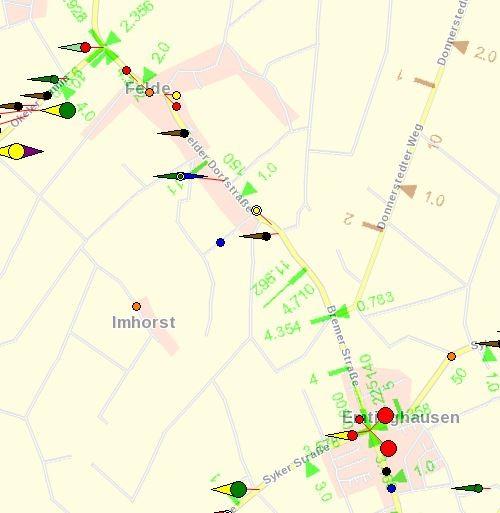 Unfallgeschehen auf der L 331 in Felde und Emtinghausen 2012