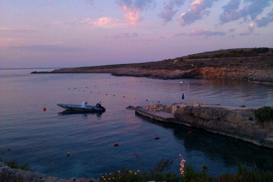 Sunset at San Niklaw Bay (Comino)