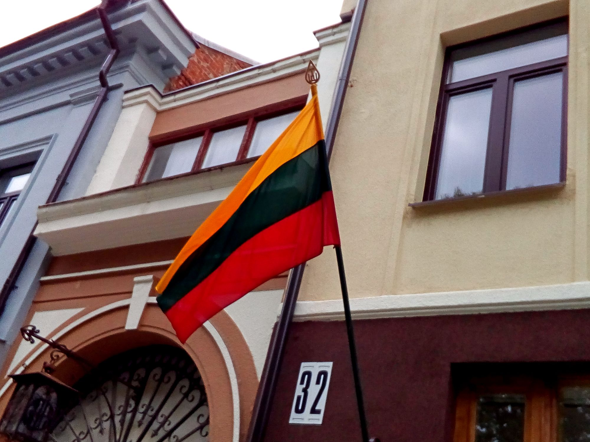 Flags were displayed all over Kaunas.