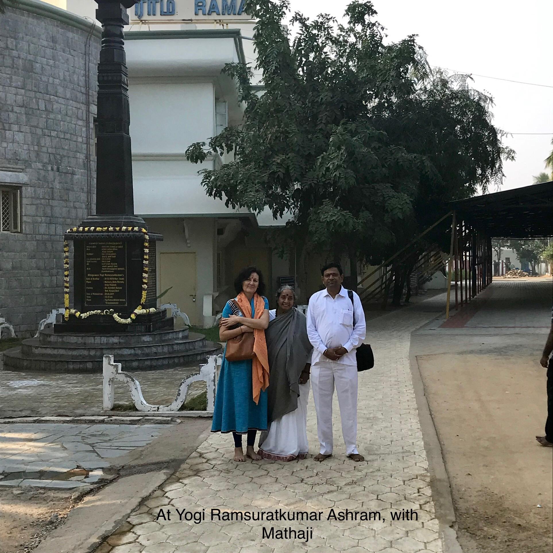"With Mataji of ""Ramsuratkumar Ashram"" in Tiruvannamalai"