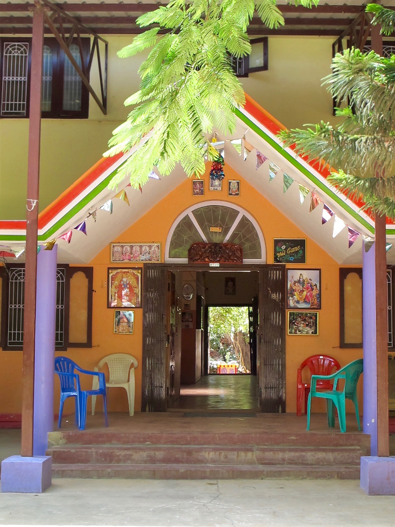Main Building - Aum Pranava - Entrance