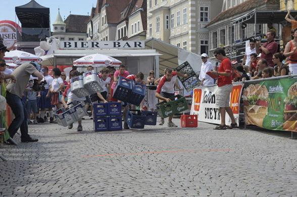 """Den """"Kaiser Bierkisten-Lauf"""" dominierte die Gruppe ebenfalls"""