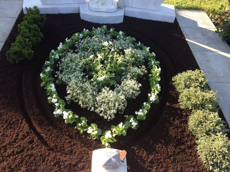 Grabbepflanzung, Bepflanzung, Grabschmuck, Frühjahrsbepflanzung, Sommerbepflanzung, Herbstbepflanzung