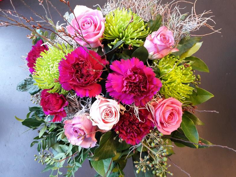 Blumenstrauß, Festlicherstrauß, Blumenschmuck, Blumenkaktus, Kaktusfloraldesign, Ochsenhausen,
