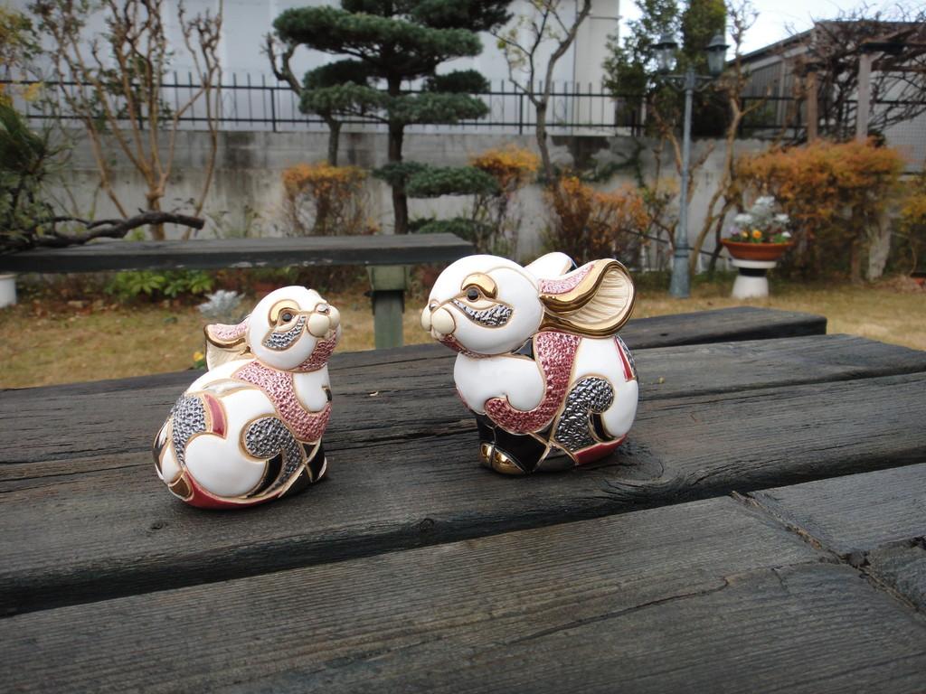シルバーアニバーサリー【ウサギ親子】