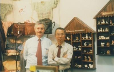 Mr. Latore, Uruguay at Osaka International trade Show