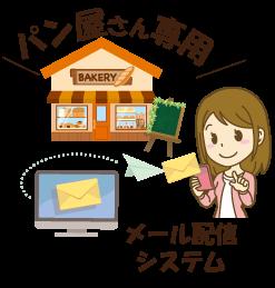 パン・ダントツはパン屋さん専用のメール会員 配信システムです