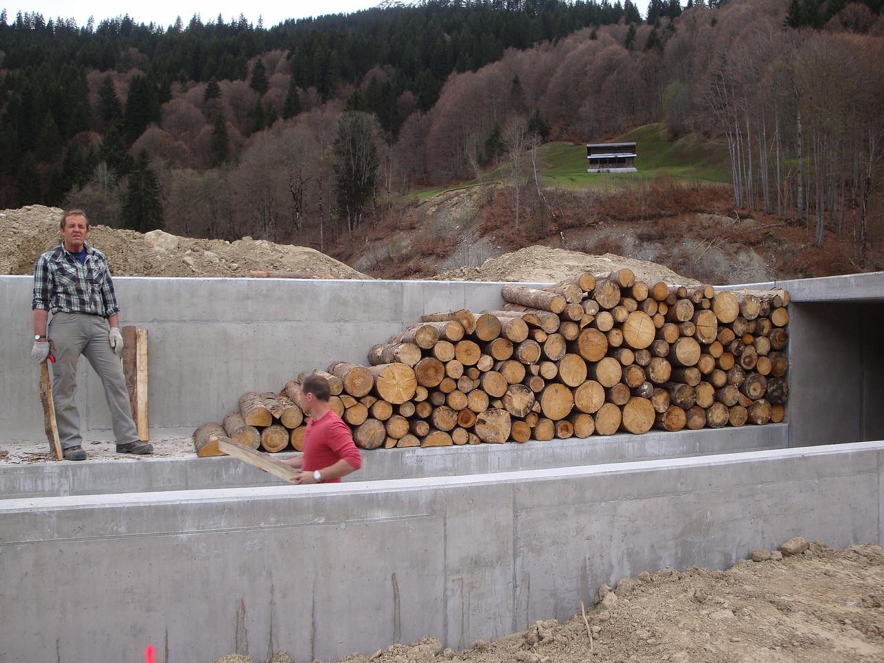 Zwei Betonfreaks beim Holzen....ob das gut kommt?