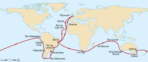 Le voyage de Darwin sur le BEAGLE