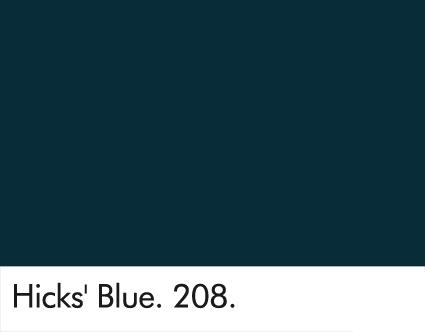 Hicks' Blue 208.