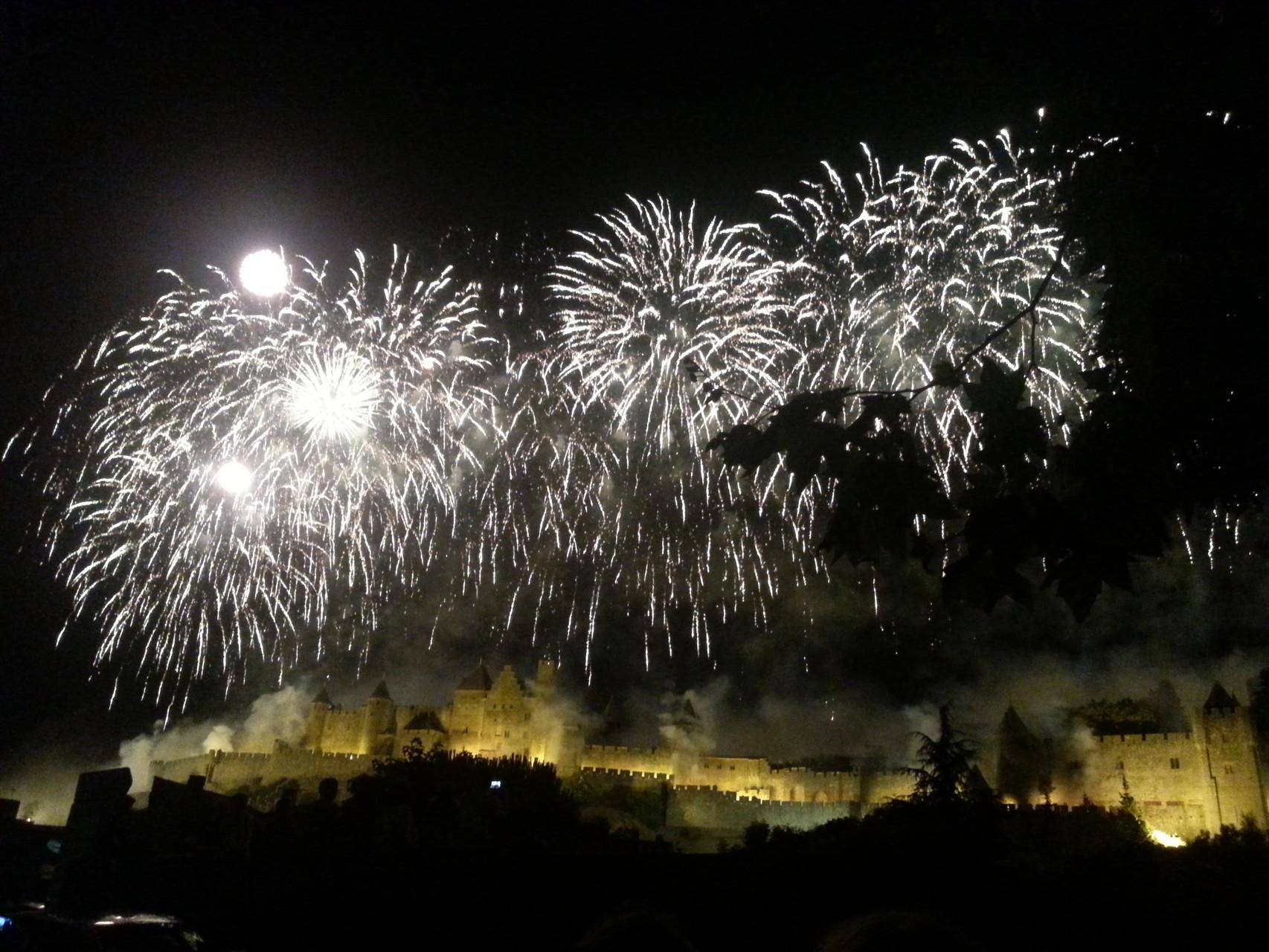 l'embrasement de la Cité de Carcassonne le 14 juillet