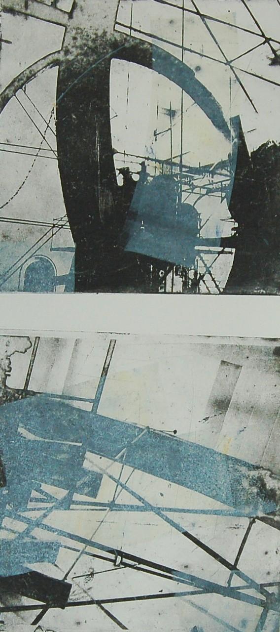 Intagliotypie (Radierung), 2x 20x20 cm, Saline