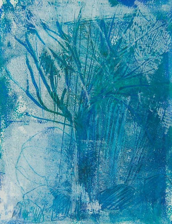 """Baum im Winter"", Monozypie, 20x30 cm"