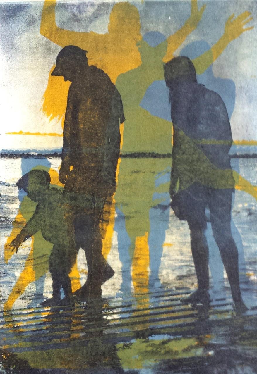 Intagliotypie, 29x30 cm, 3 Platten, Schiffsbrüchig