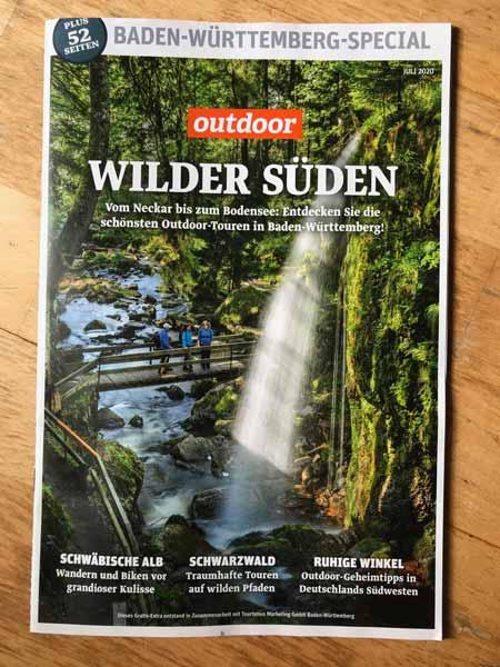 Das Berggeheimnis im Outdoor Magazin, Ausgabe Wilder Süden