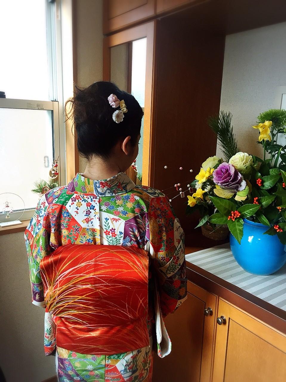 小紋~お正月の装い