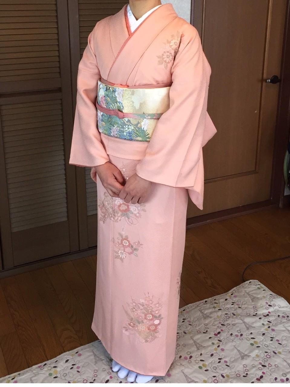 桜色の訪問着~ご入学式での装い