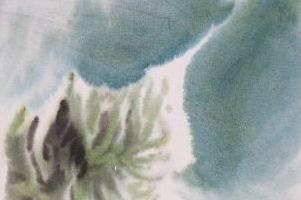 Aquarell, grün, 22 x29 cm