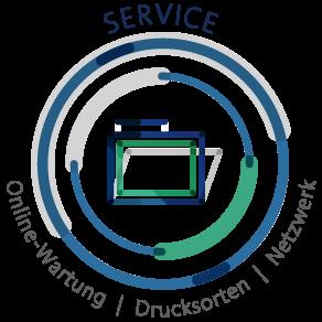 SERVICE – Online-Wartung  |  Drucksorten  |  Netzwerk – Devant Design Hamburg