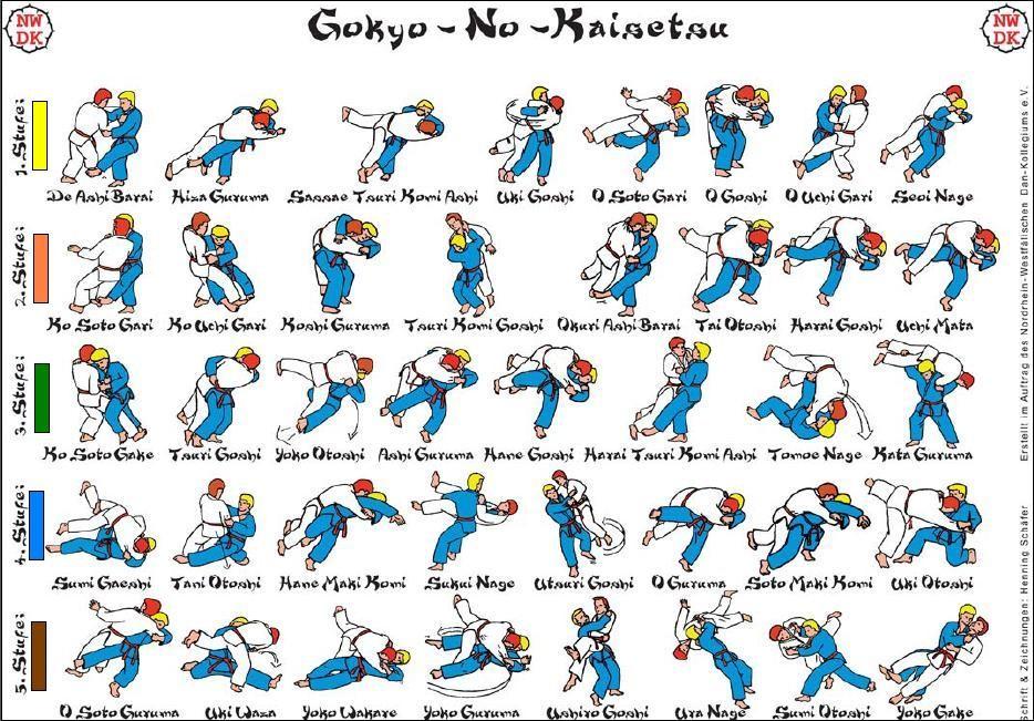 best gokyo no waza chart five sets of techniques judo rh reddit com