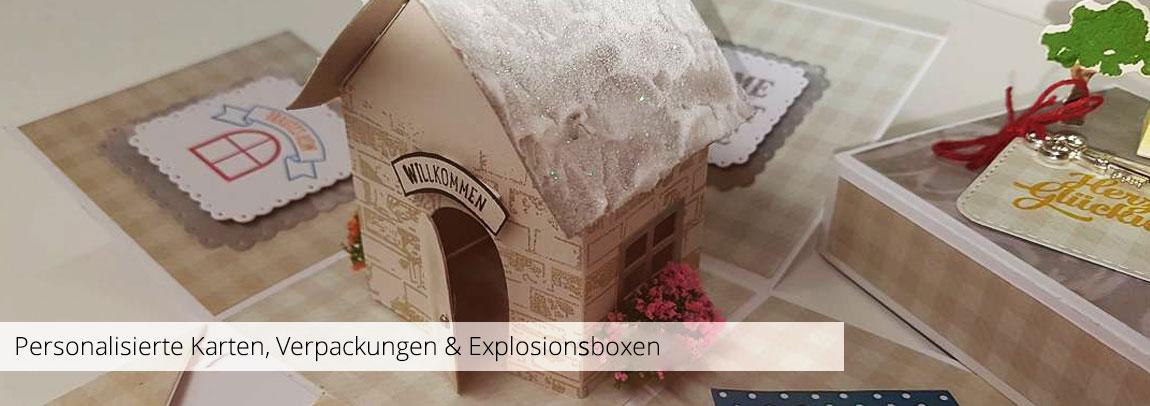 Personalisierte Karten, Verpackungen & Explosionsboxen