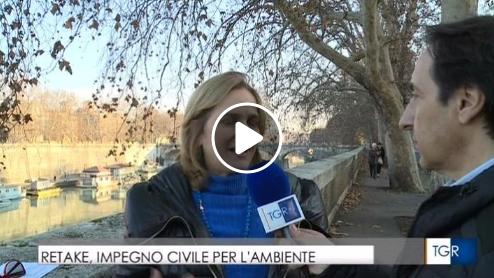 Rebecca Spitzmiller, fondatrice Retake, intervistata dal TGR Lazio
