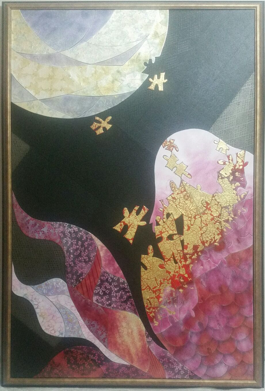 第56回 日本現代工芸美術展 作品 『心月へ泳ぐ』