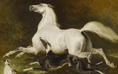 Alfred De Dreux - Cavalli al galoppo