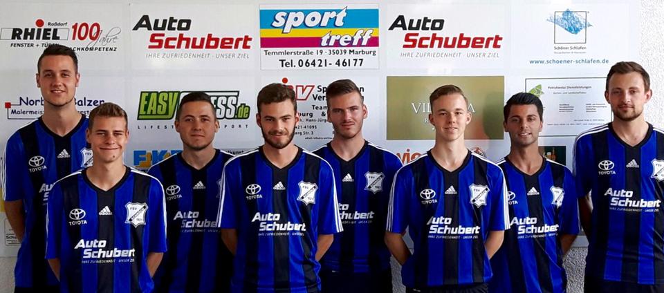 von links: Yannik Gnau, Tim Schäfer, Fitim Braha, Janis Walther, Marius Pfeiffer, Marcel Schmitt, Alban Ademi, Pascal Breitenmoser