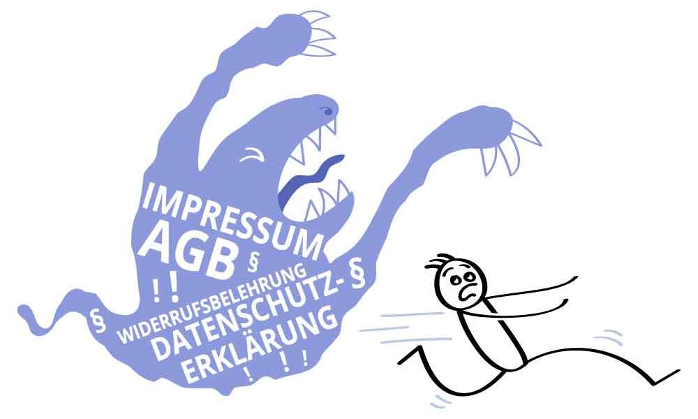 Impressum, AGB, Datenschutz von Rechtsanwälte erstellt