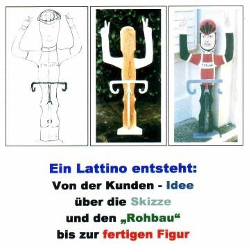 Lattinos Auch Lattenkerle Oder Eckensteher Genannt Sind Figuren