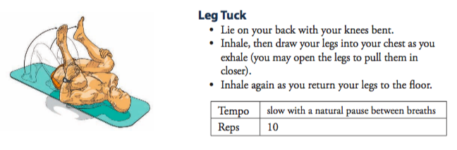 illustration of how to perform a leg tuck
