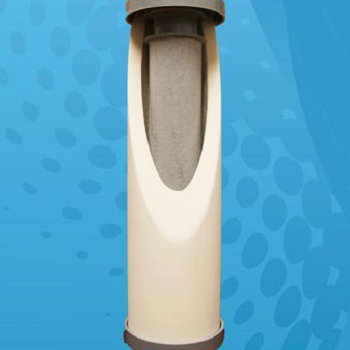 Water filter with a carbon block