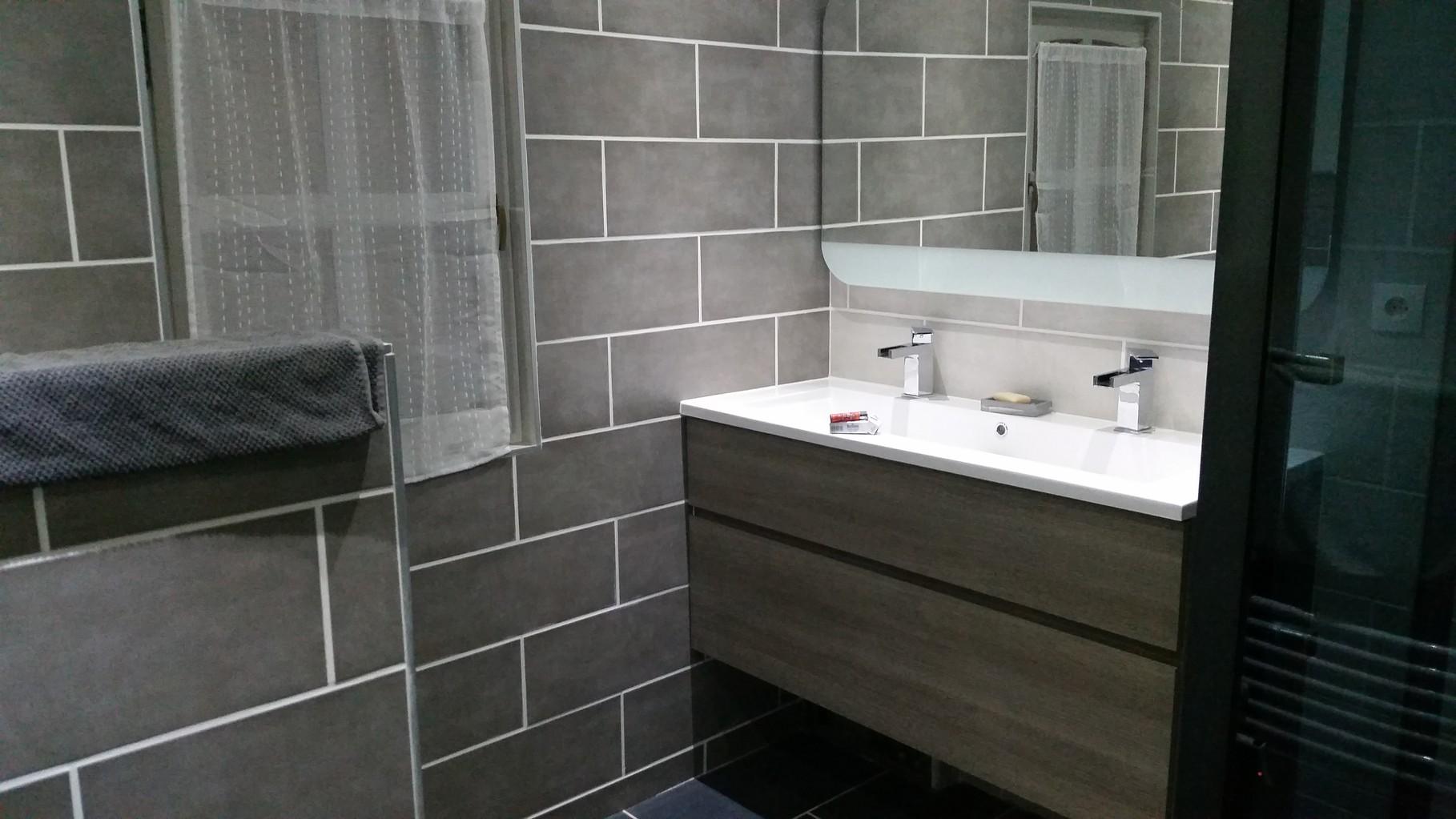 salle de bain chalet en kit
