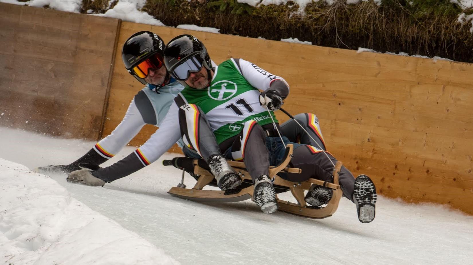 Hautz Michi / Schwaller Alex beim GP 2020 in Olang.  Bildquelle: www.sportrodeln.it