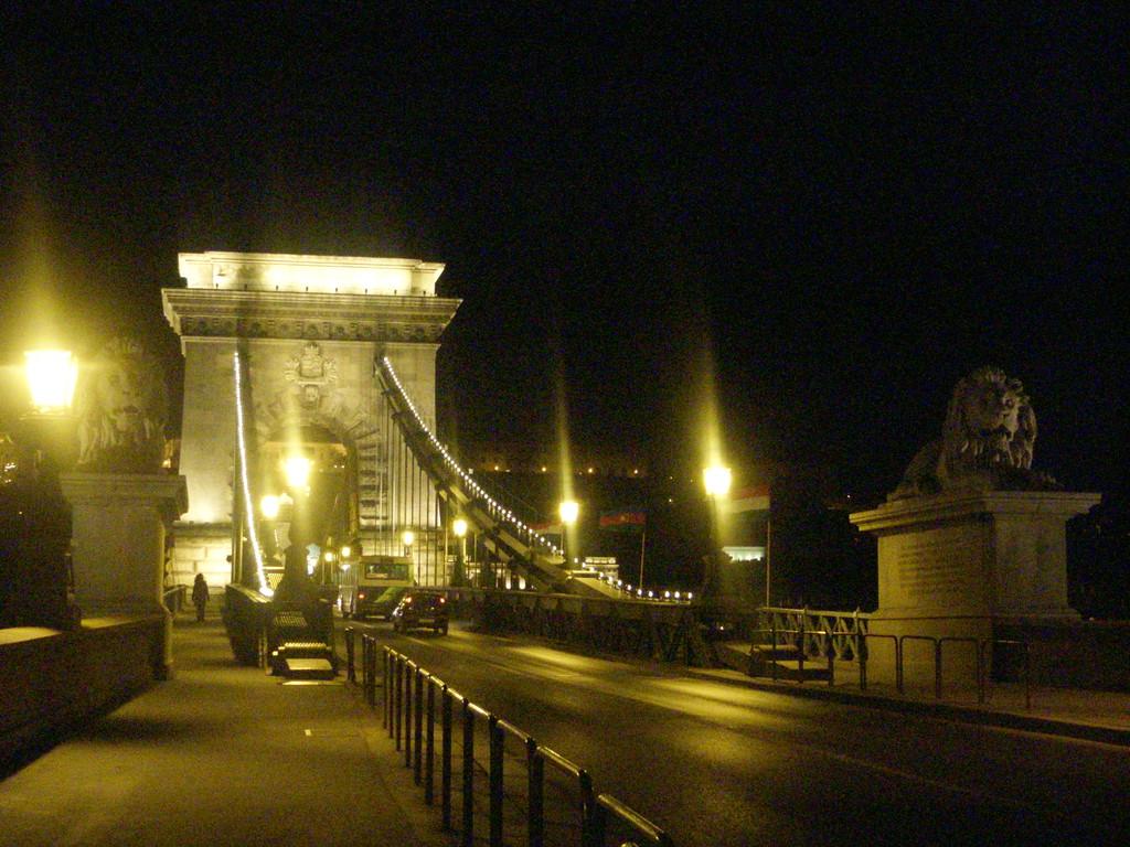 夜のくさり橋