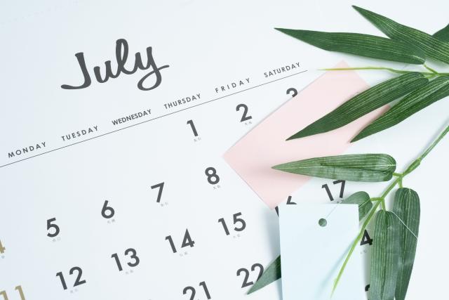 令和3年7月人事労務の業務カレンダー