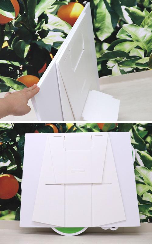 参考:顔出しパネルの二ツ折の写真です。